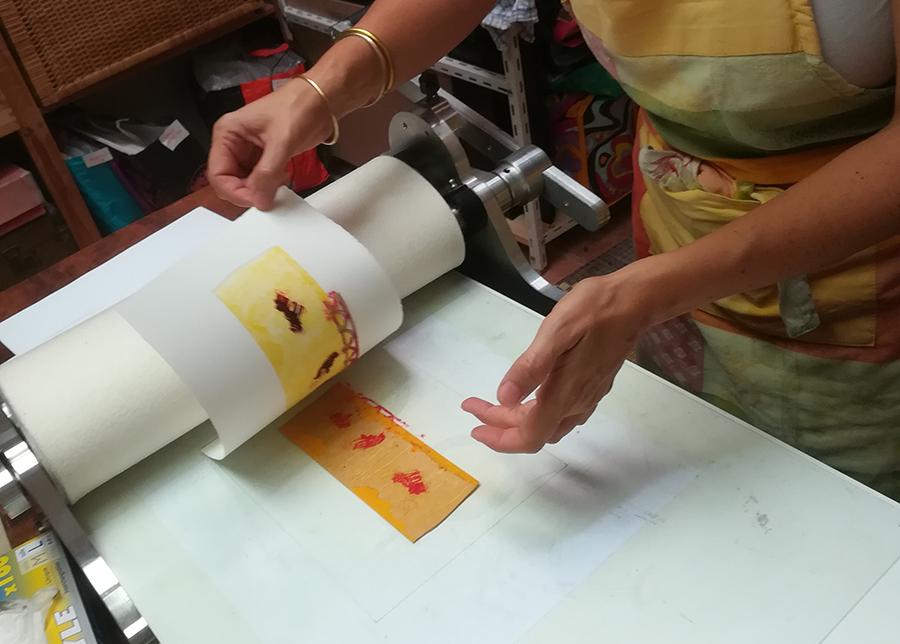 Encres et feuillets | atelier gravure